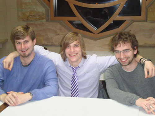 German majors celebrate passing their Comprehensive Exams at McClurg