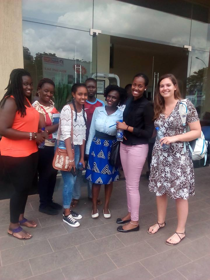 Politics major Walker Buxton with students from Victoria University, Kampala, Uganda. June 2016. The Victoria students participated in a virtual exchange with Walker and other Sewanee students in the Spring 2016 term
