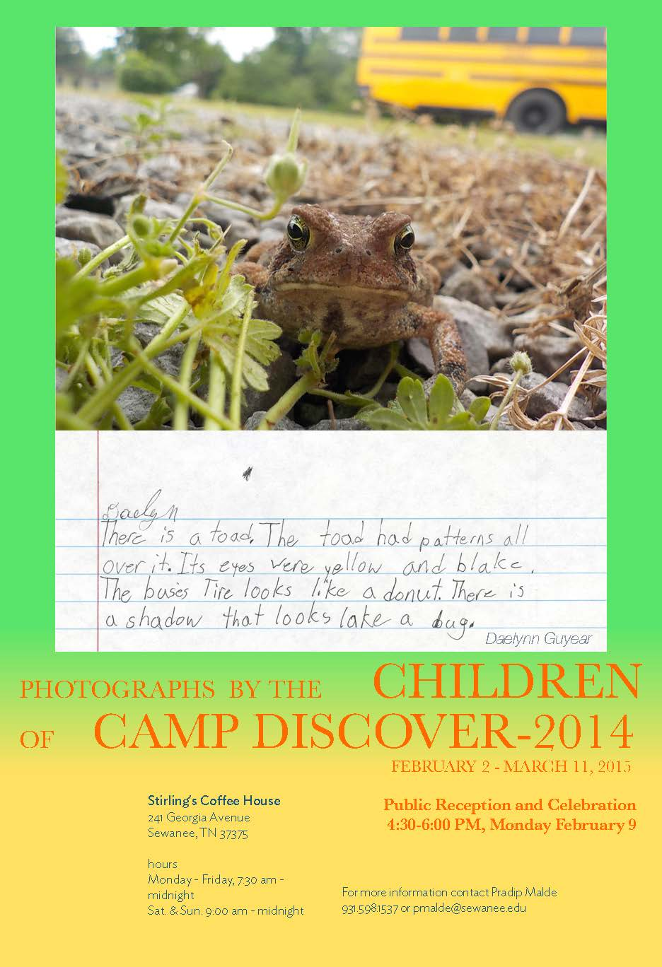 Camp Discover Exhibition Poster