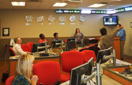 Carey-Fellows students using Bloomberg training and terminals
