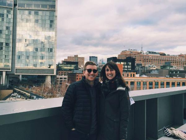 Anna Palmer and Buckley Wallace enjoy the Whitney Art Museum on the weekend.