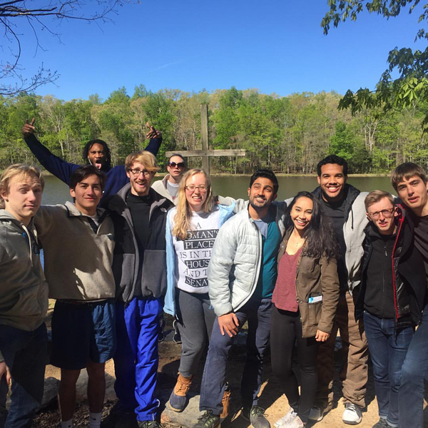 Students--some Sewanee and others--at Ignite Retreat in April 2016