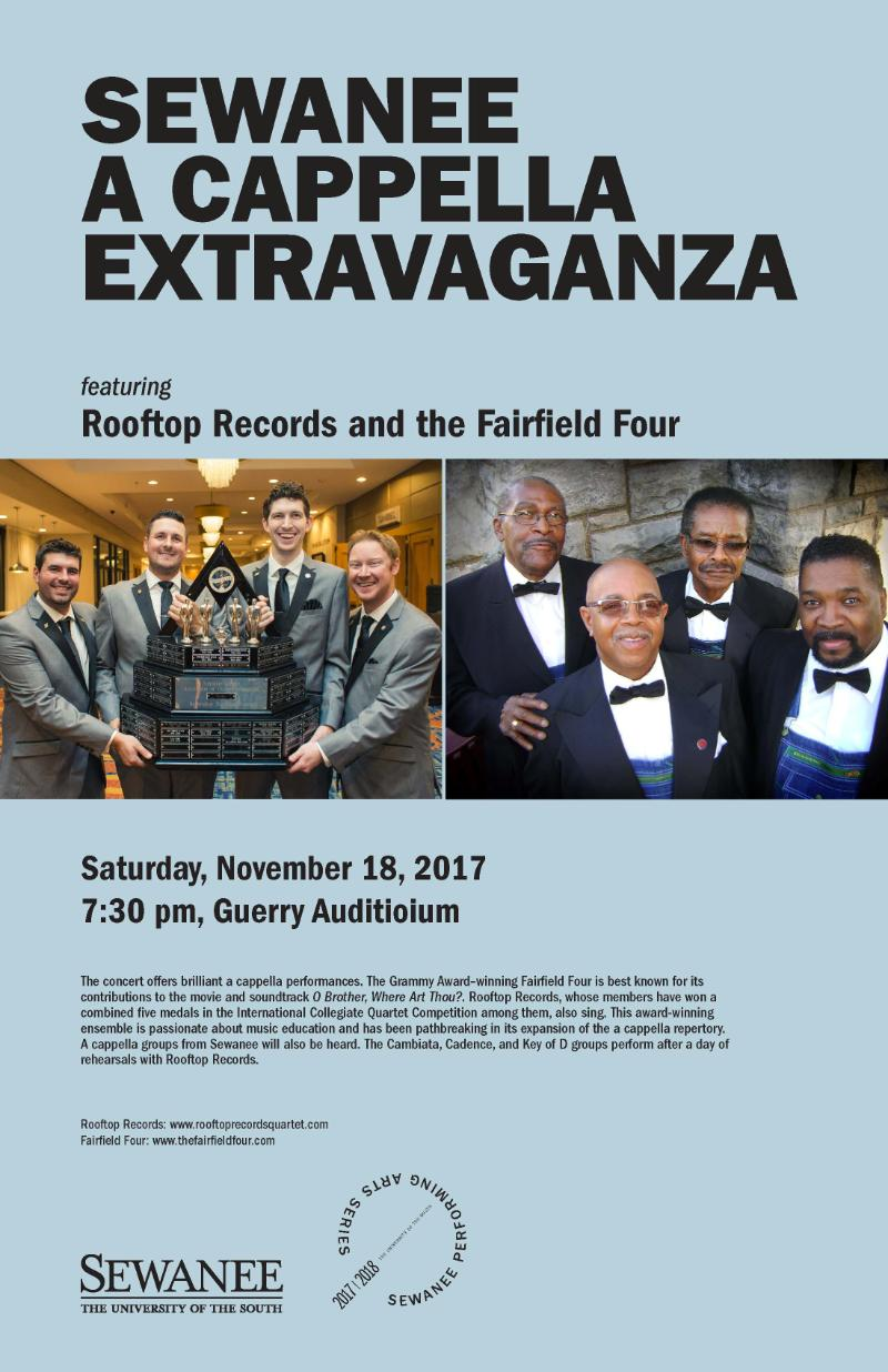 Sewanee a cappella ensembles and Fairfield Four & Rooftop Records