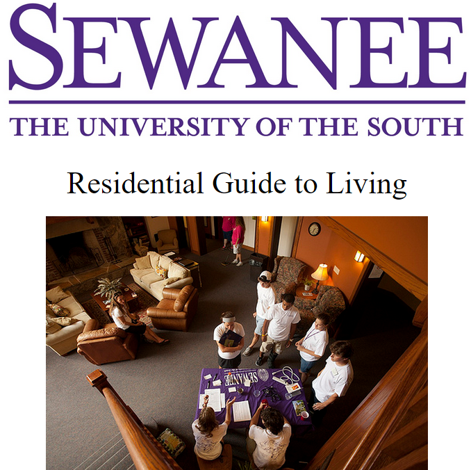 Residential Guide to Living Cover Page