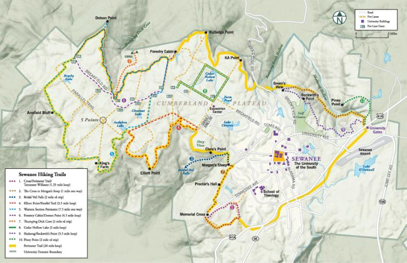 Student Life • Sewanee Outing Program • 50 mi. of Trail on Campus