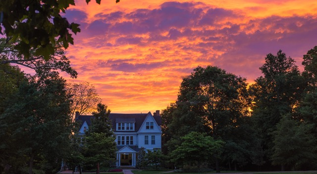 Sunset at Fulford hall