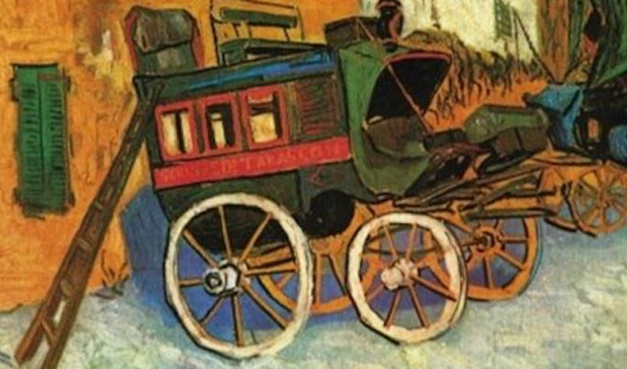 van gogh painting of a cart